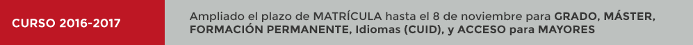 UNED MATRÍCULA 2016-2017